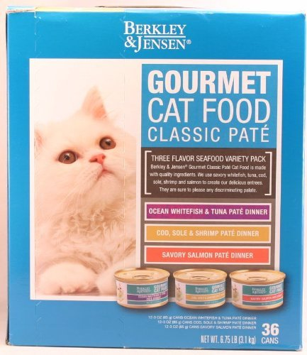 Berkley & Jensen Cat Food Variety Pack, 36 x 3 oz
