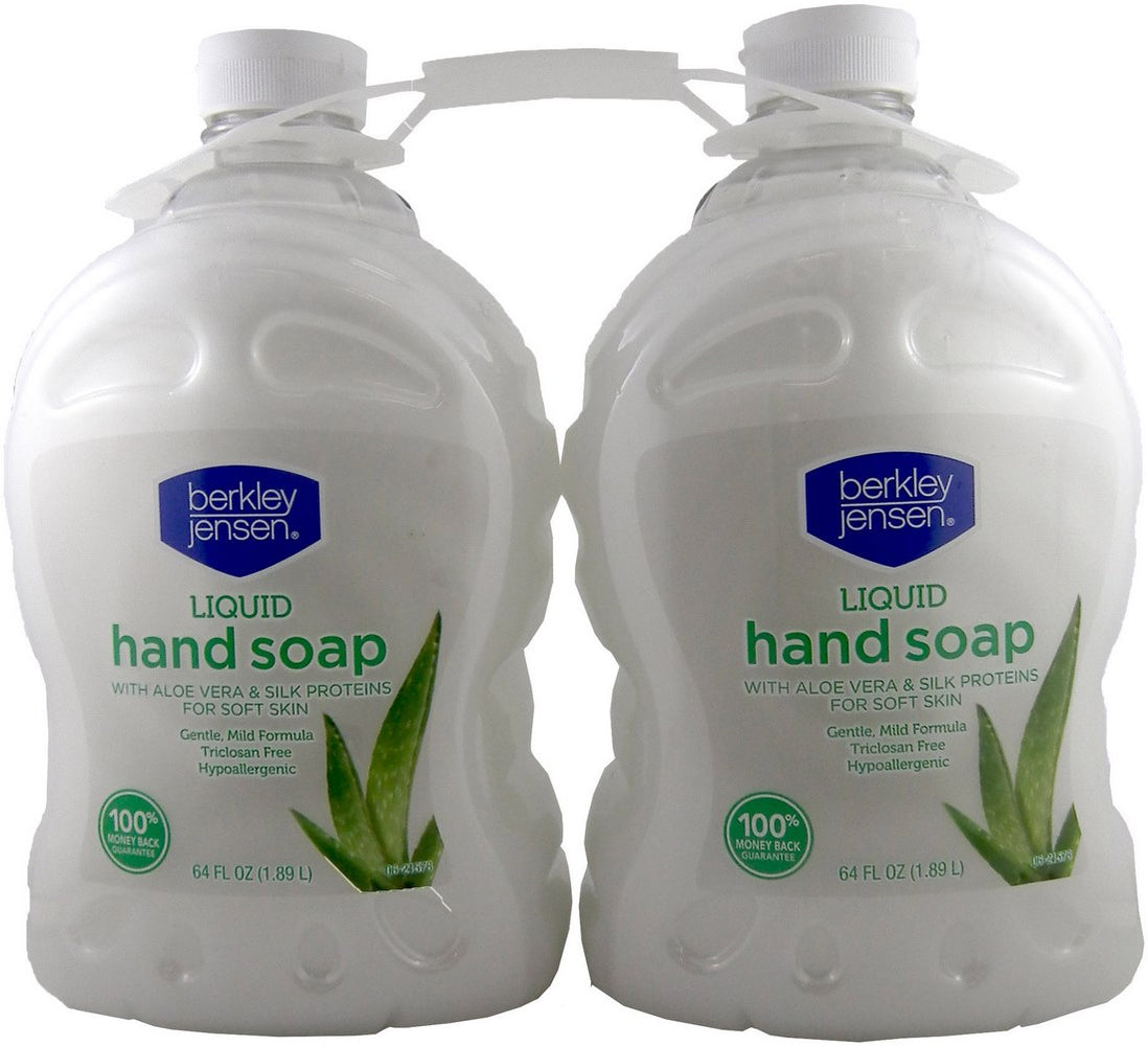 Berkley Jensen Liquid Hand Soap with Aloe Vera, 2 x 64 oz