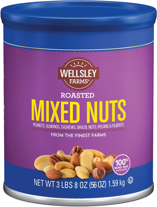 Wellsley Farms Roasted Mix Nuts, 56 oz (3 lbs)