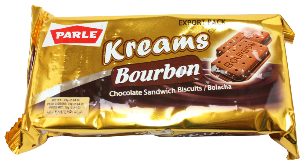Parle Kreams Bourbon Chocolate Sandwich Biscuits, 2.64 oz
