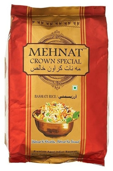 Mehnat Crown Special Basmati Rice, 4.5 kg