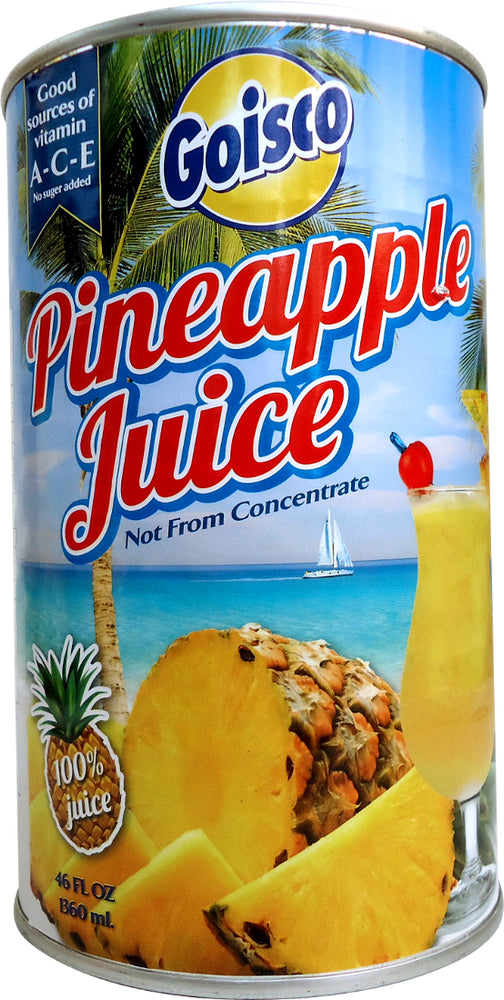 Goisco No Sugar Added 100% Pineapple Juice, Vitamin A-C-E, 46 oz