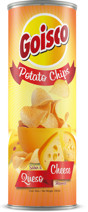 Goisco Cheese Flavored Potato Chips, 130 gr