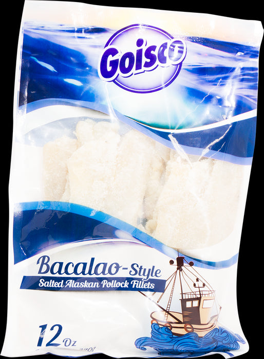 Goisco Bacalao Style Salted Alaskan Pollock Fillets, 340 gr