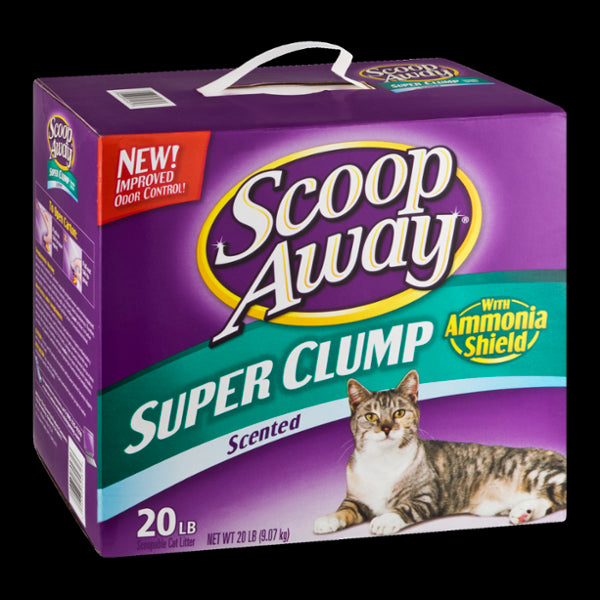 Scoop Away Scoopable Cat Litter, Super Clump, Ammonia Shield, Scented, 20 lbs