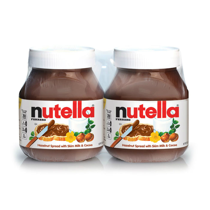 Nutella Hazelnut Chocolate Spread, Twin Pack, 2 x 26.5 oz