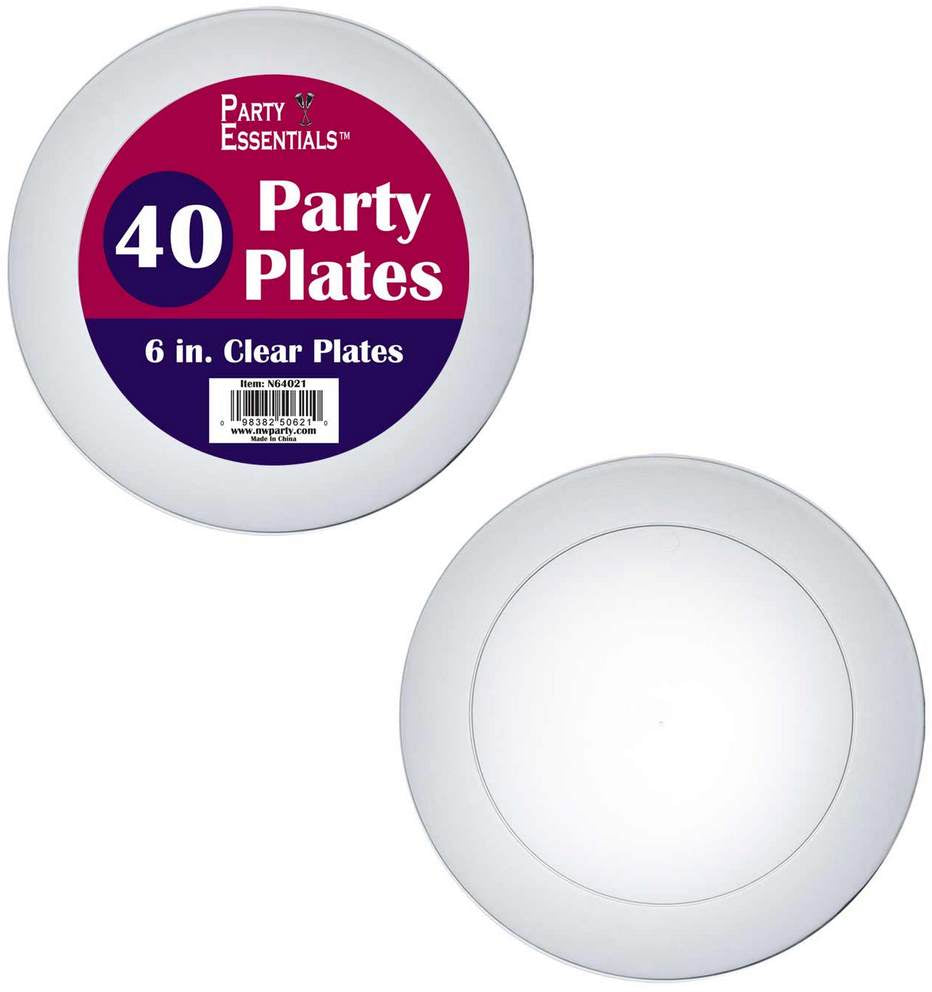 Party Essentials Party Plates, 6 inch, 40 ct