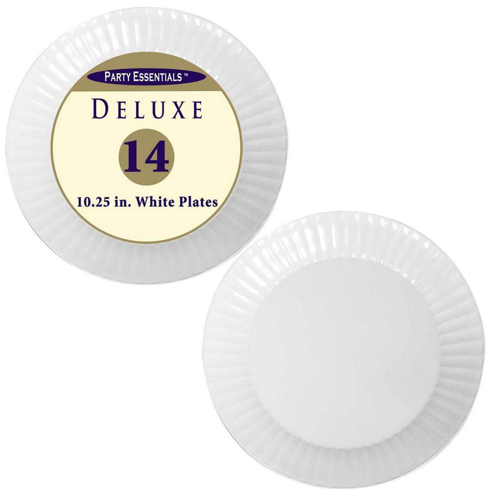 Party Essentials Deluxe Plates, 10.25 inch, 14 ct