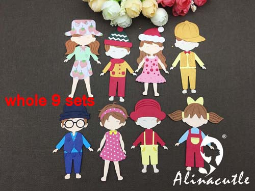 Metal Cutting Craft Doll Boy Girl And Clothes Dami All