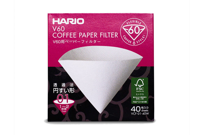 HARIO V60 PAPER FILTERS - 1 CUP
