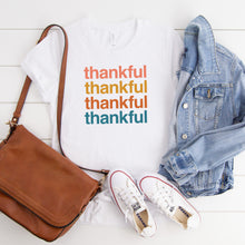 Load image into Gallery viewer, Thankful, Thankful, Thankful - YOUTH White Bella + Canvas Tee