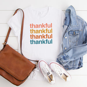 Thankful, Thankful, Thankful - YOUTH White Bella + Canvas Tee