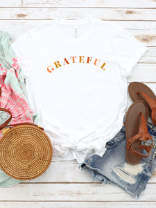 Grateful - YOUTH White Bella + Canvas Tee