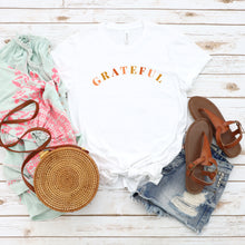 Load image into Gallery viewer, Grateful - YOUTH White Bella + Canvas Tee