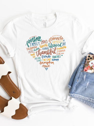 Grateful Heart - YOUTH White Bella + Canvas Tee