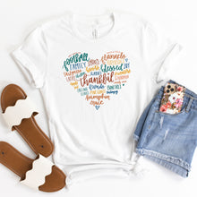 Load image into Gallery viewer, Grateful Heart - YOUTH White Bella + Canvas Tee