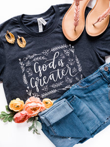 God is Greater - Heather Navy Blue