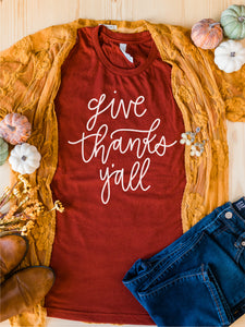 Give Thanks Y'all Tee