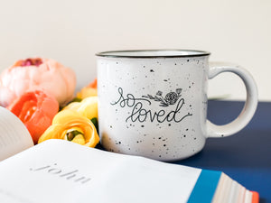 So Loved Hand Lettered Mug