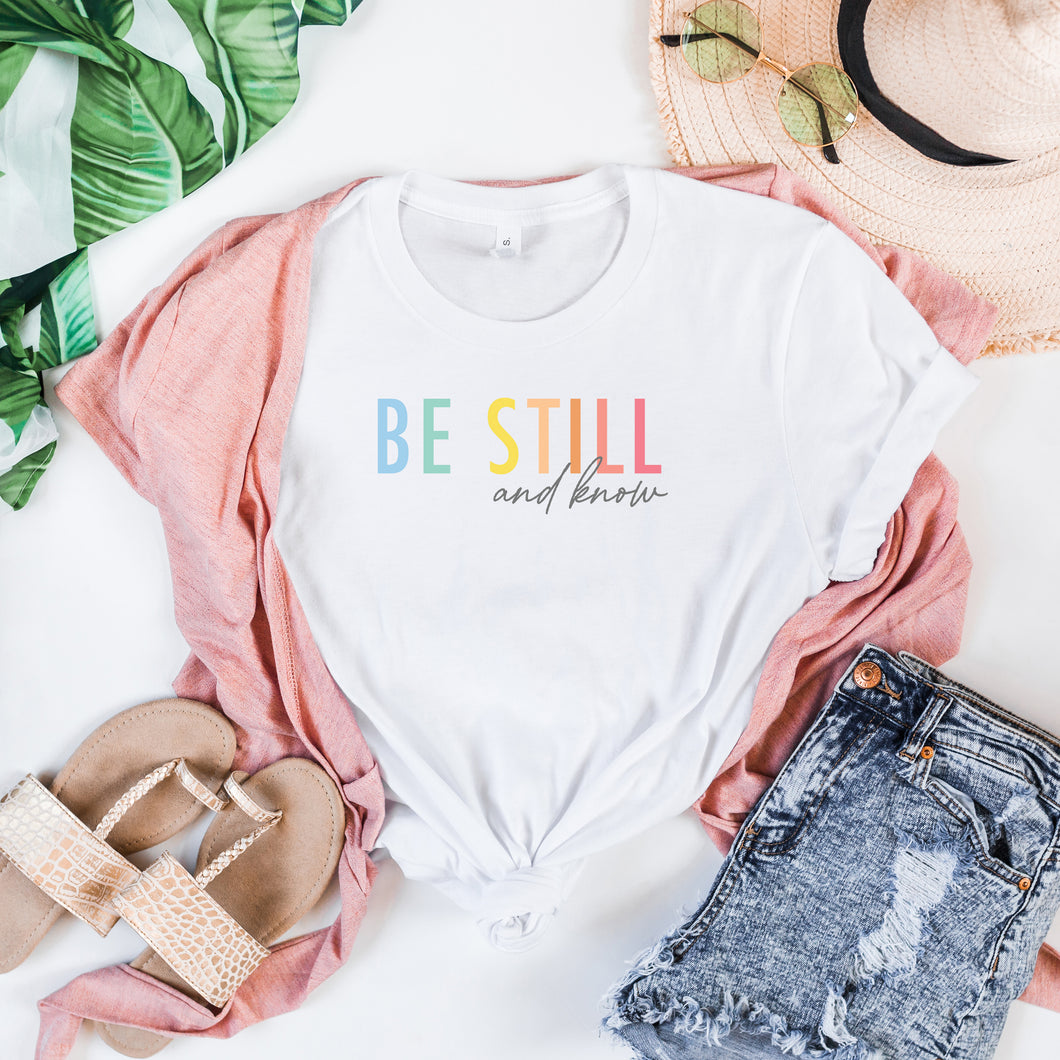 Be Still - White, Bella + Canvas Tee