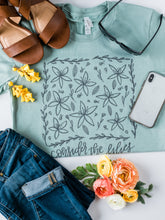 Load image into Gallery viewer, Dusty Blue Christian Tshirt - Consider the Lilies Tee