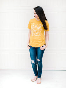 Consider the Lilies - Mustard Yellow or Lilac Christian T-Shirt