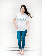 Load image into Gallery viewer, Hand Lettered Christian Tshirt - Fearless Oatmeal Tee