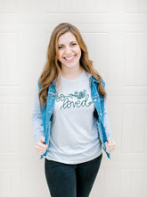 Load image into Gallery viewer, So Loved John 3:16 Hand Lettered Shirt - Oatmeal Triblend