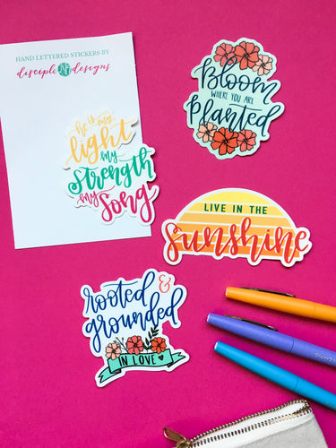 Sticker Bundle - 4 Vinyl Stickers