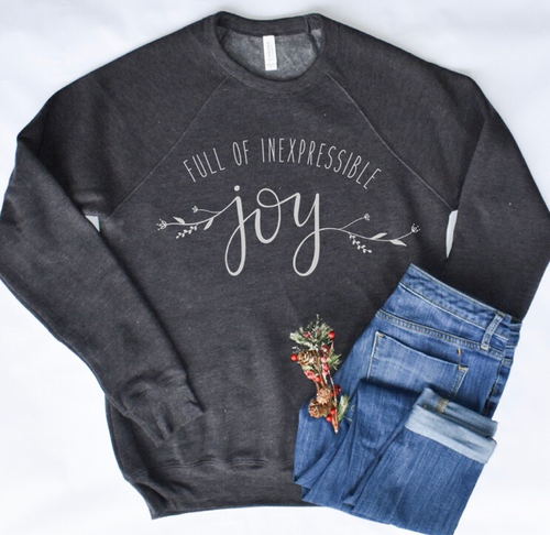 Full of Inexpressible Joy - Heather Dark Gray Sweatshirt