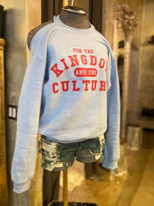 COLD SHOULDER Custom Crew Neck KINGDOM and the CULTURE (BABY BLUE)
