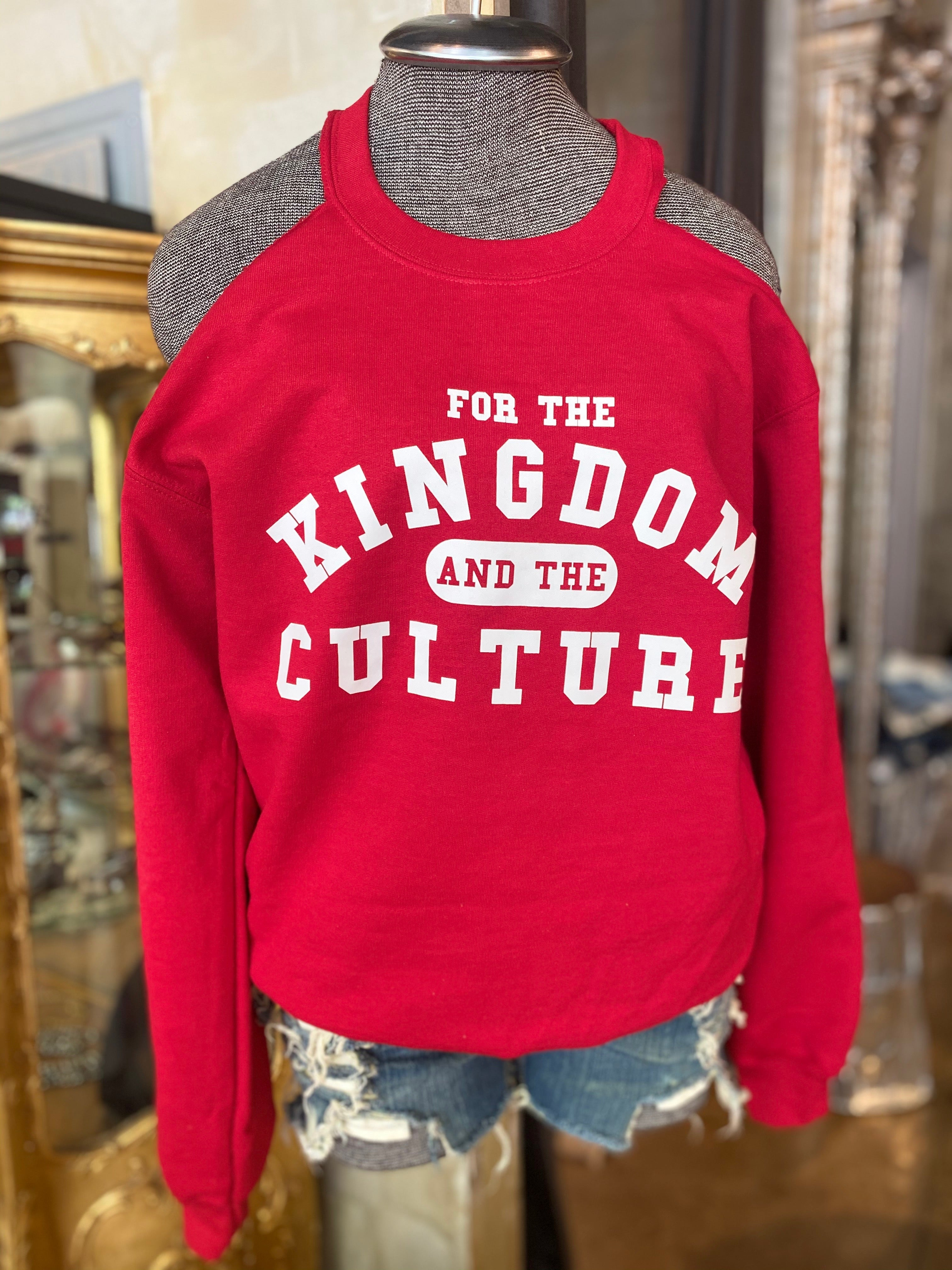COLD SHOULDER Custom Crew Neck KINGDOM and the CULTURE (RED)