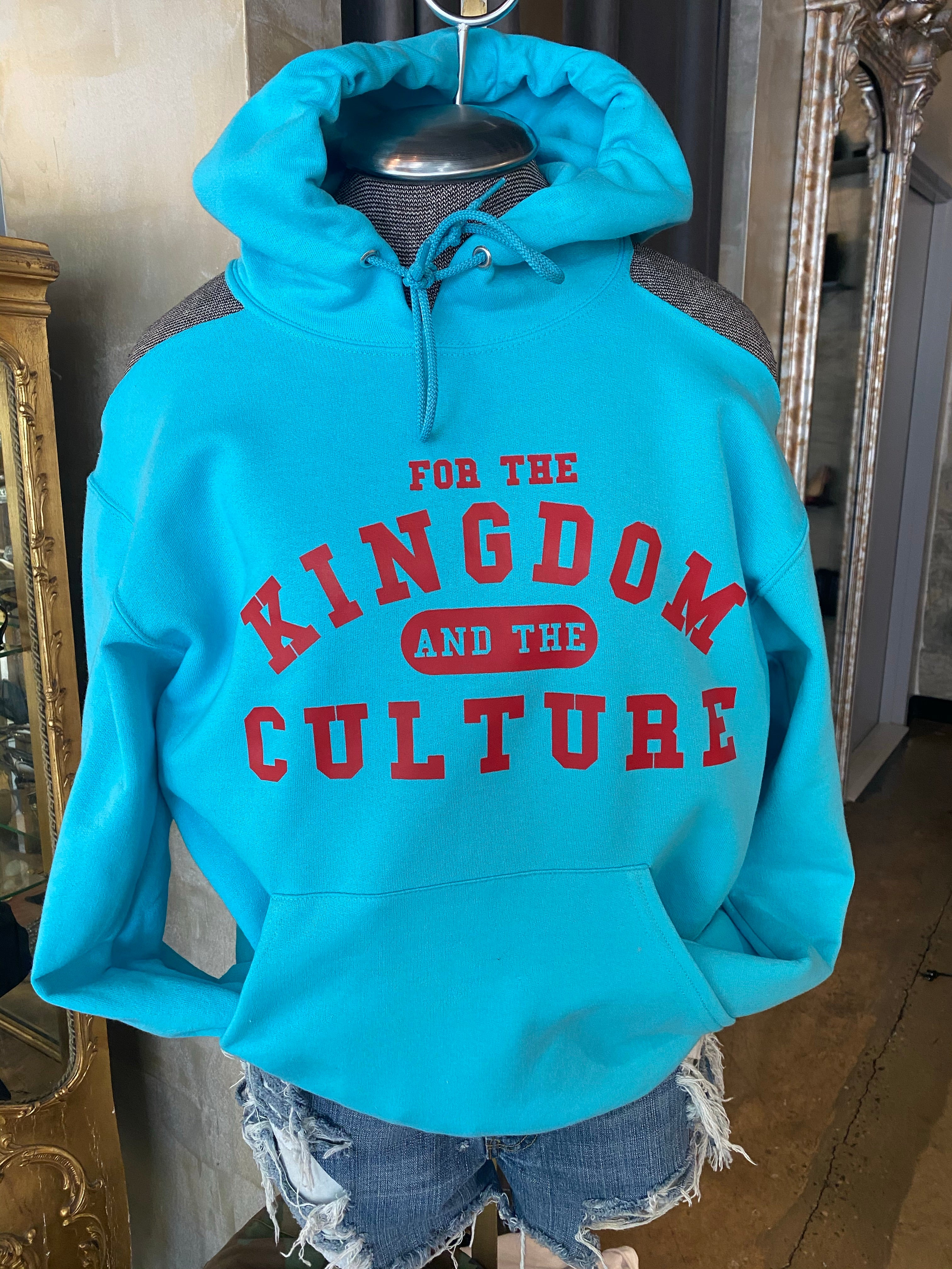 PARDON MY BACK Custom Hoodie KINGDOM AND CULTURE (SCUBA BLUE)