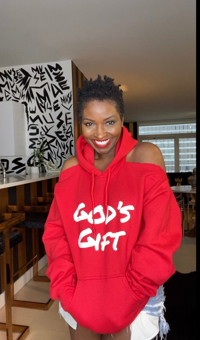 PARDON MY BACK Custom Hoodie GOD'S GIFT (RED)
