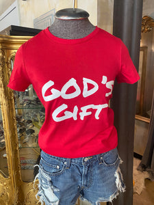GOD'S GIFT T-SHIRT (RED)