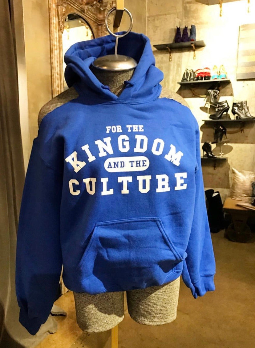 COLD SHOULDER Custom Hoodie KINGDOM AND CULTURE (ROYAL BLUE)