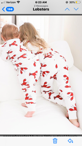 Lobster Organic Pajamas