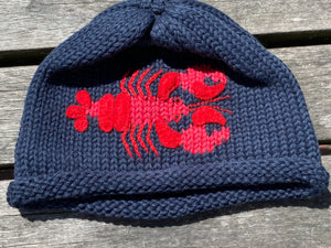 Knit Whale & Lobster Hats