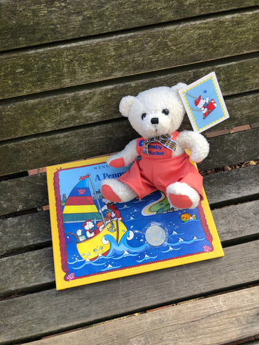 "A Penny for Barnaby and 9"" Barnaby Bear Set"