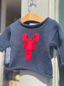 Knit Lobster & Whale Sweater