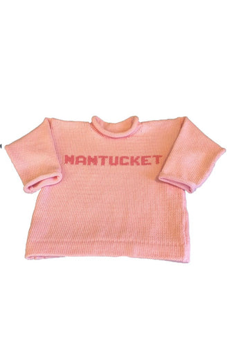 Pink Nantucket Sweater