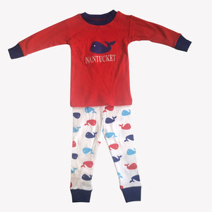 Organic Nantucket Whale Jammies