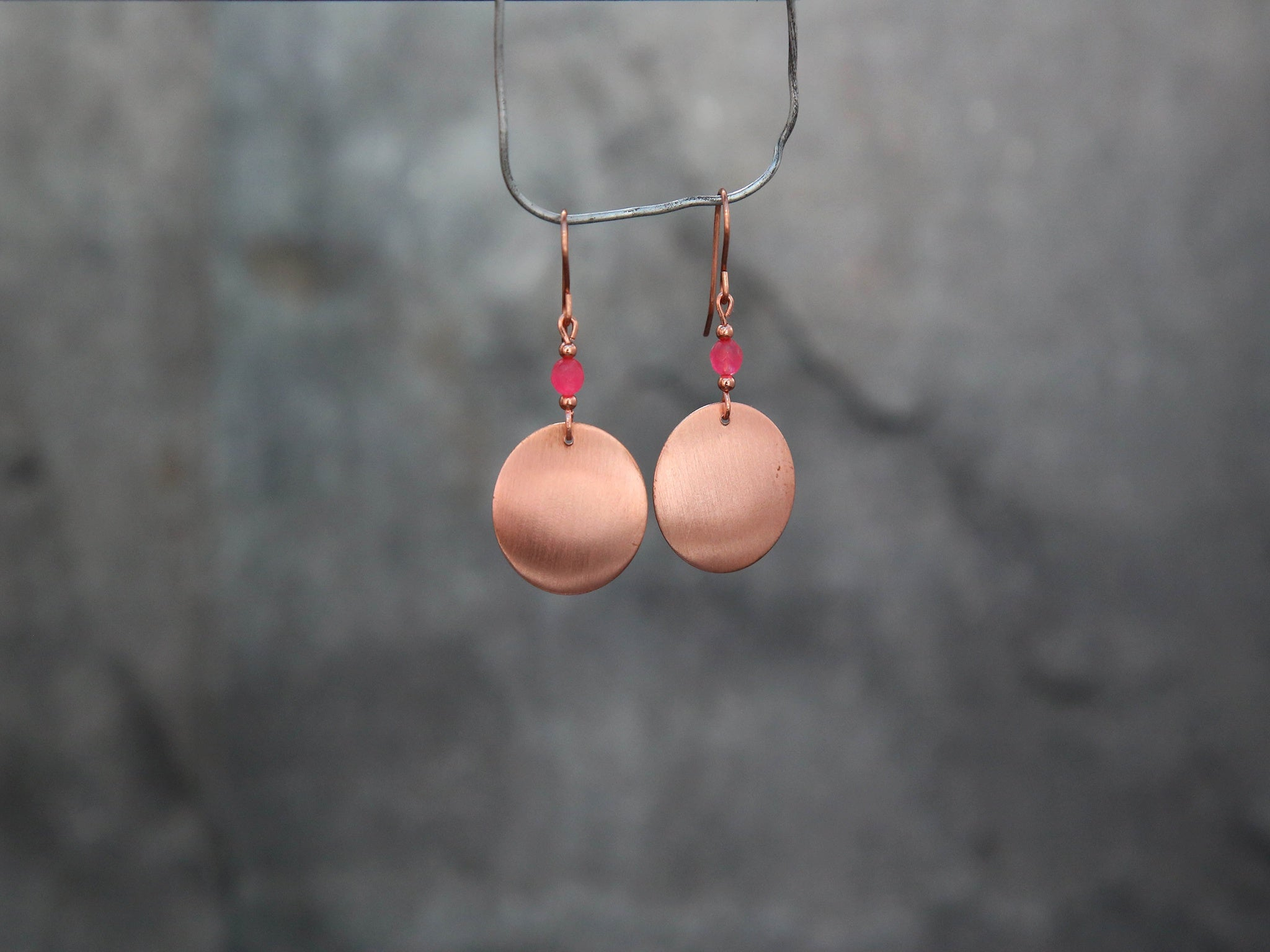 Round Copper earrings