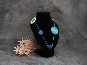 Long Necklace Blue&Green