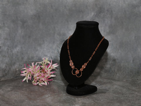Necklace Layered copper Coil