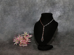 Necklace Half& half Silver/Copper Swing