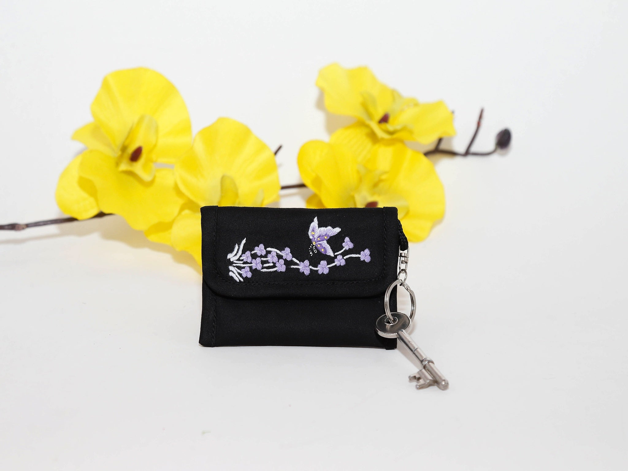 Key bag-Jonquil Flower,Purple,Red