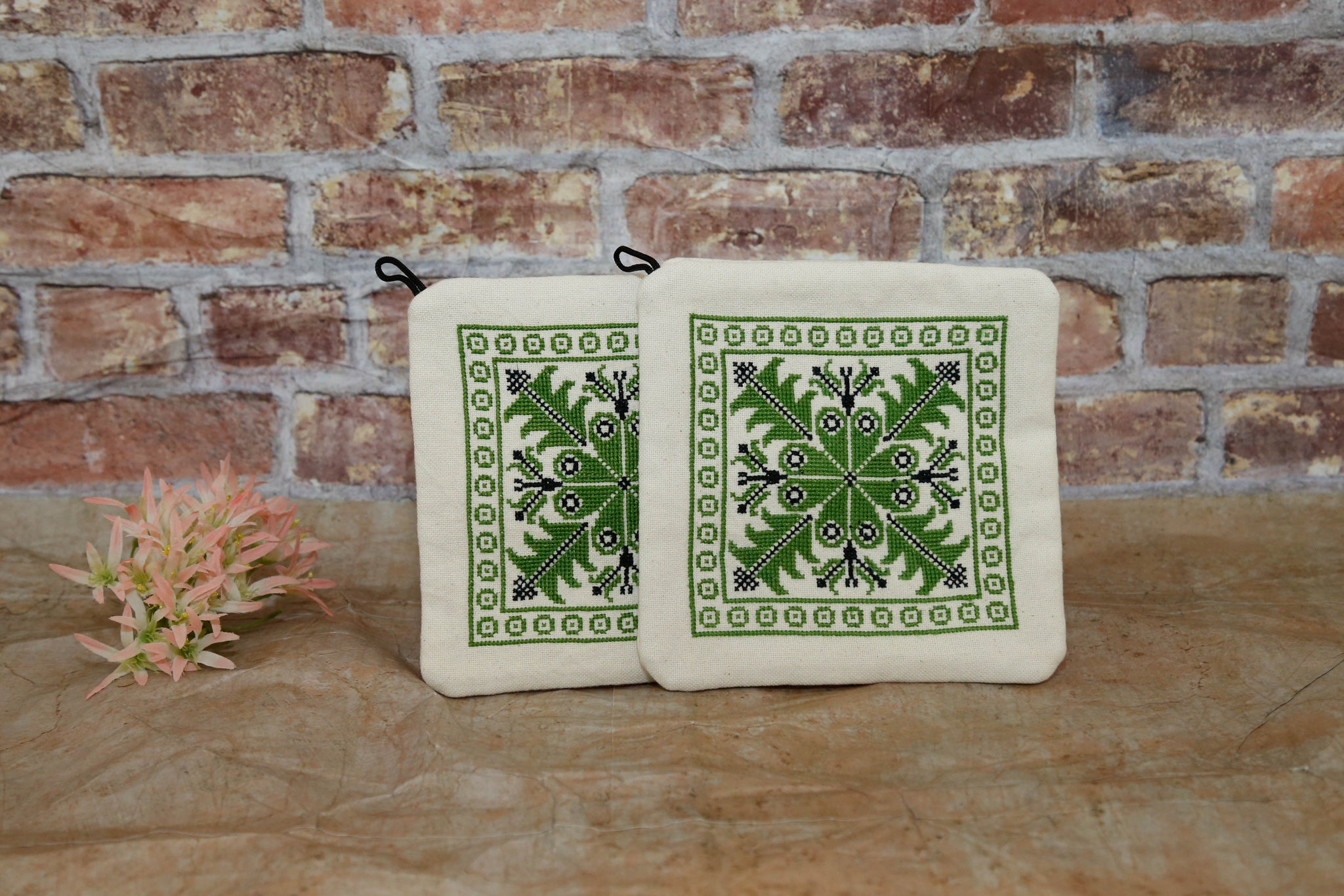 Pot Holders - Hebron (Green)