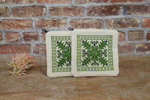 Potholders - Hebron (Green)