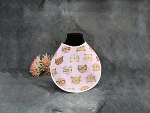 """Baby Bib"" Cats Design"